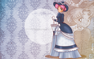 Vintage Lady Chibiusa - blue wallpaper by selinmarsou