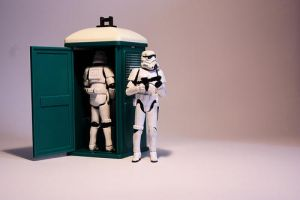 storm troopers with a tardis by Wintertrua