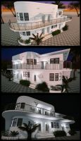 White Art Deco house by MichaWha