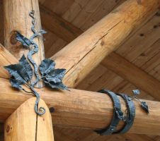 decoratiion for a log home by artistladysmith
