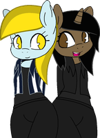 [DOLL] Anthrofied ponies in jackets by LR-Studios