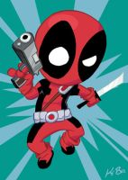 Deadpool Art Card -NEW- by kevinbolk