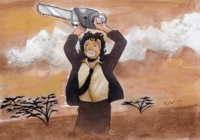 Tobe Hooper's  -The Texas chainsaw massacre by syxx