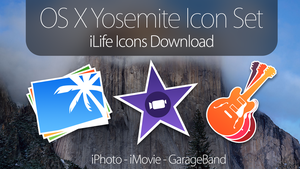 OS X Yosemite Icons - iLife Applications DOWNLOAD by simalary44
