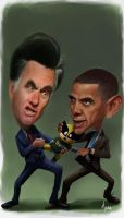 Mitt vs Barack! by munoa13