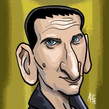 Ninth Doctor Caricature by WesleyRiot