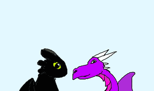 New Icon! Toothless and Kyraeth by totodile-fan