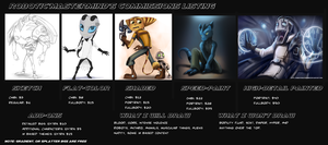 Commissions 2014 (OPEN) by RoboticMasterMindX