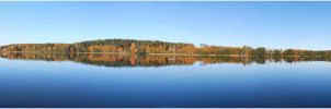BG Autumn Lake Panorama by Eirian-stock