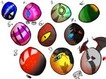 Egg Adopts Sheet 4 (open)-15points each- by Onyx-Niight