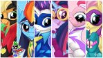 The Power Ponies 16:9 by mysticalpha
