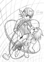MegaMan and Lan by Autumn-Sacura
