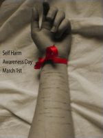 Self Harm Awareness Day by multicoloured-smee