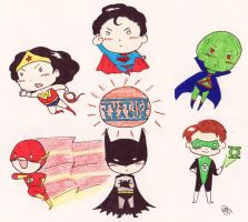 Mini Justice League by AironKennell