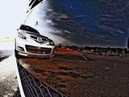 Mazda 3 reflection from GTI by Jeffh97