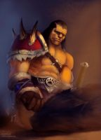 Rexxar and first friend by HI-artist