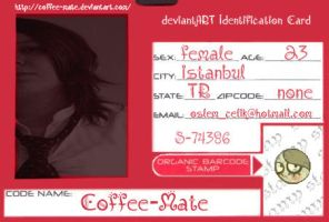 deviantART Identification Card by Coffee-Mate