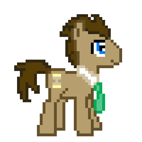 8-bit Doctor Whooves Sprite by ladypixelheart