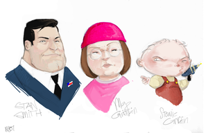American Dad and Family Guy by scrumtrulescence