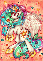 Celestia In Bloom by MadBlackie