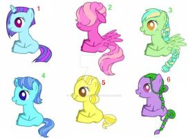 Free Baby Ponies (sold out) by votederpycausemufins