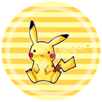 Pikachu button by SabrieI