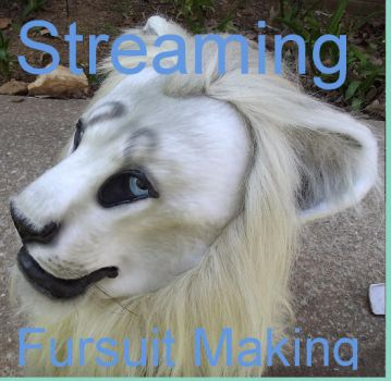 Livestreaming fursuit heads: 7:11am EST 4/30/14 by ArtSlavefursuits
