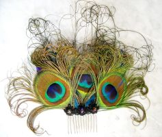 Peacock Fascinator by FairyberryBlossoms