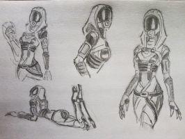 sketches Tali (6) by spaceMAXmarine