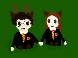 Lily and James- chibi by Goldenfox1704