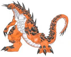 Ceron, the Magma Monster. by ChaosGhidorah
