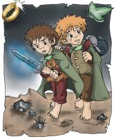 Frodo and Sam by Cathy86