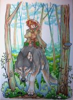 In the woods by housunnappi
