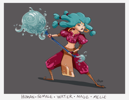 daily hero - Water Mage warrior by shoze