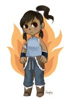 Korra doodle by Amphany