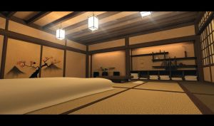 Japanese Room in IRay by RetroDevil