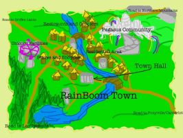 Possible RainBoom Town Idea by Aaronicus