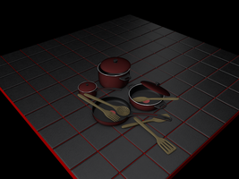 Utensilios de cocina C4D free Cooking utensils by The-Ronyn