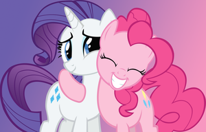 Some Pinkie Rarity Friendshipping by AnimusVox