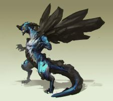 Blue Stone Dragon by jeffchendesigns
