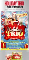 Holiday Trio PSD Christmas Flyer Template by ImperialFlyers
