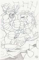 Leo and Raph Commission by danimation2001