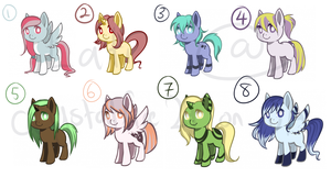 Pony Points Adoptable Auction [CLOSED] by Latiwings