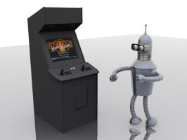 Arcade Cab and Bender by striderchea