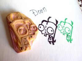 Gir Rubber Stamp Carving by nezumish