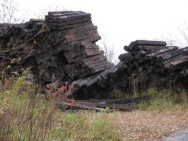 Railway timbers by oldsoulmasquer