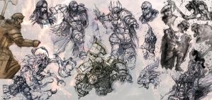 storm of chaos sketches by slaine69