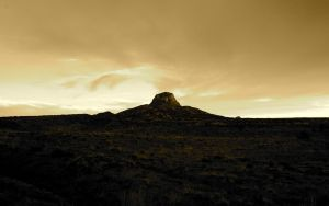 Cabezon Peak in Sepia by elektronika7
