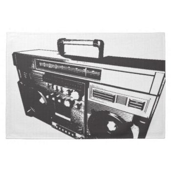 Boom Box Towel by christinagart