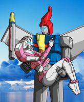 Swoop and Arcee finished by Wrecker-lady